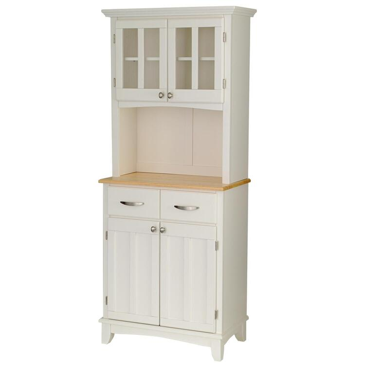 Home Styles White Server With Natural Wood Top And Two Door Hutch [Item # 5001-0021-12]