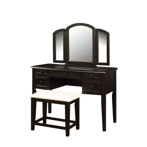 Terra Cotta Vanity, Mirror & Bench