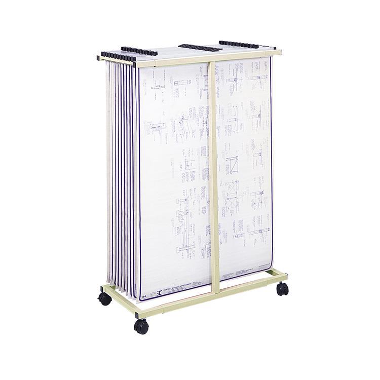Mobile Vertical File, Tan