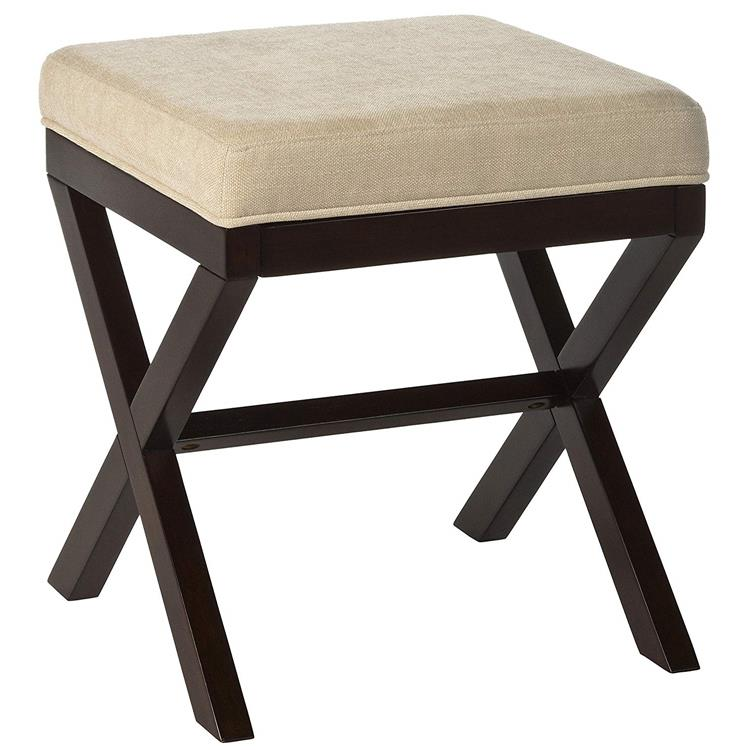 Morgan Wood Vanity Stool