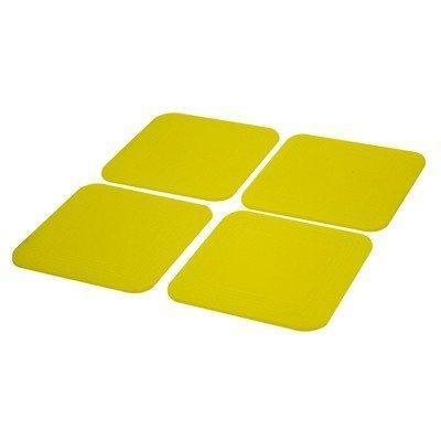 FEI FEI Dycem non-slip square coasters, set of 4, yellow