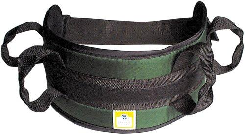 Padded transfer belt, side release buckle, large, black