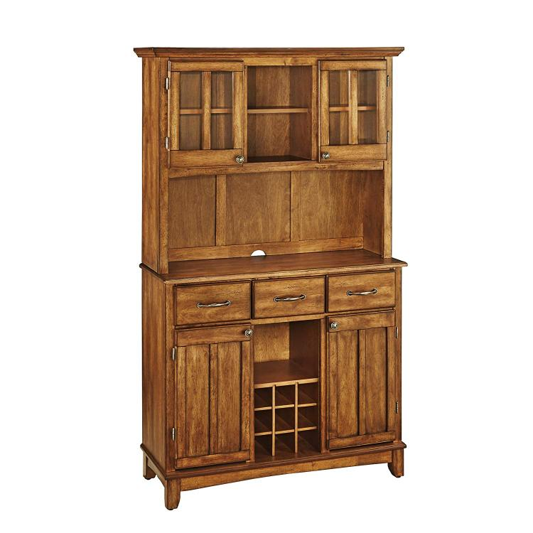 Home Styles Cottage Oak Server With Cottage Oak Top And Two Door Hutch