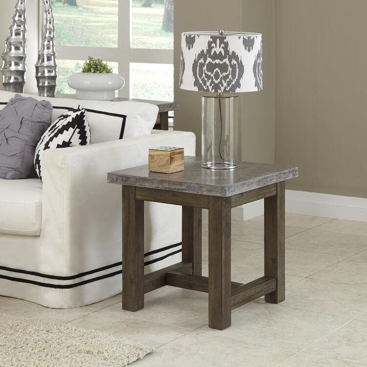 Concrete Chic End Table