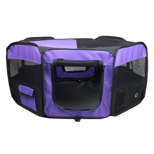 Iconic Pet - Portable Pet Soft Play Pen - Purple - XXlarge