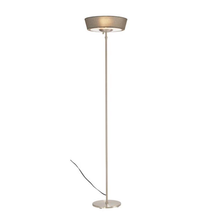 Harper Floor Lamp- Grey Shade