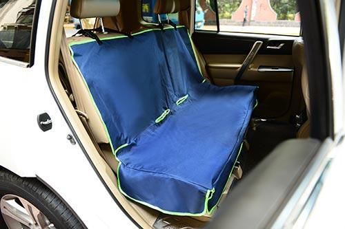 Iconic Pet - FurryGo Car Bench Seat Cover - Navy Blue