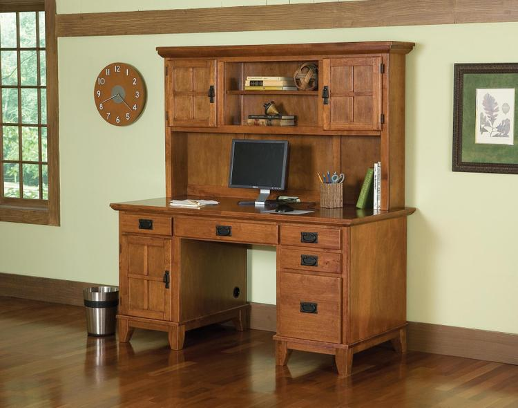 Home Styles Arts And Crafts Pedestal Desk And Hutch