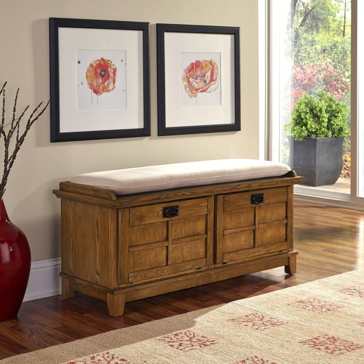 Home Styles Arts & Crafts Upholstered Bench