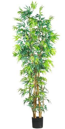 7' Curved Bamboo Silk Tree