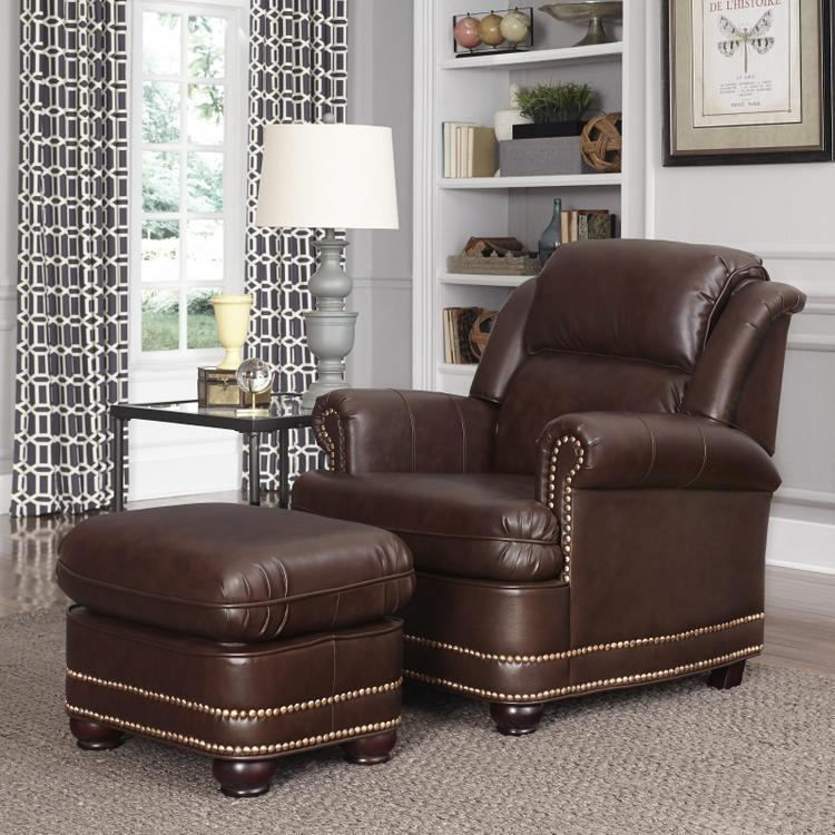 Home Styles Beau Stationary Chair and Ottoman