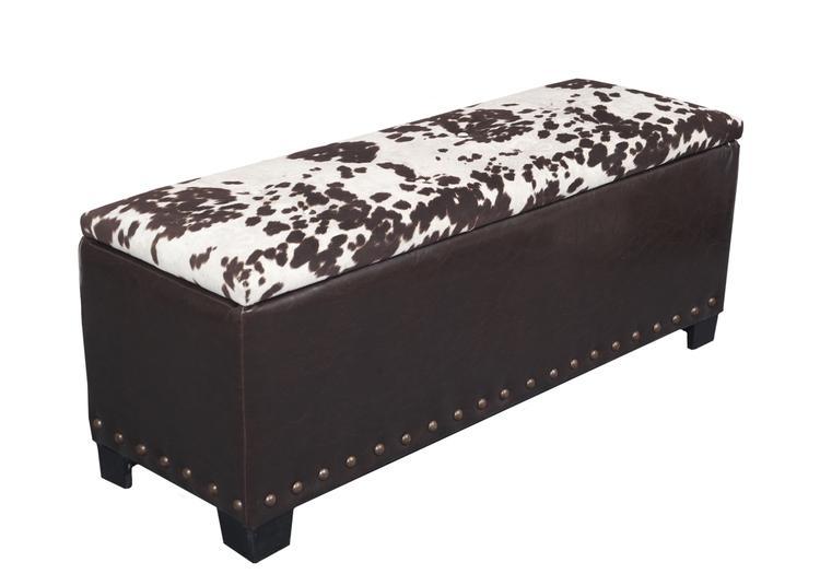 American Furniture Classics Model 520 Cowhide Gun Concealment Bench