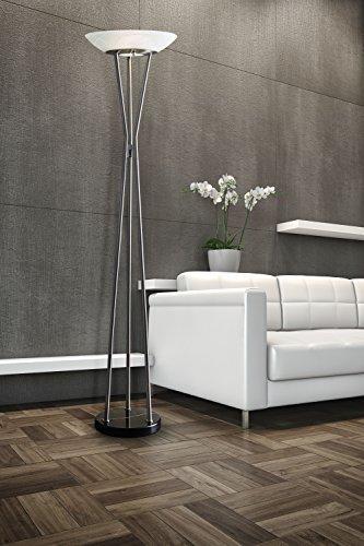 Gemma Floor Lamp- Satin Steel