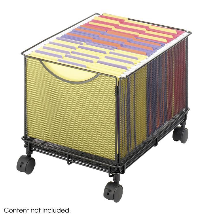Onyx™ Rolling File Cube, Mesh, Black [Item # 5211BL]