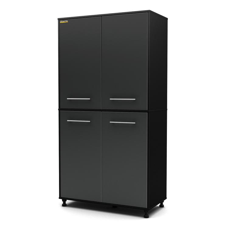 South Shore Karbon Storage Cabinet Pure And Charcoal