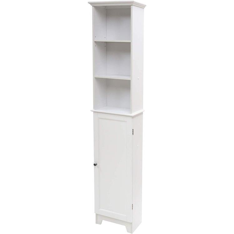 WC Redmon Shaker Style Tall Floor Shelf with Lower Cabinet