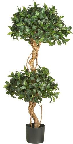 4' Sweet Bay Double Ball Topiary Silk Tree