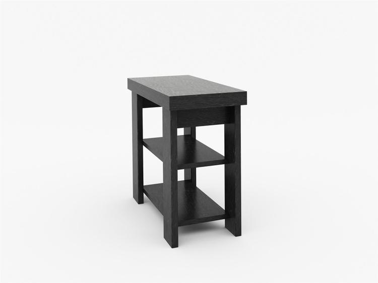 Hollow Core Chair Side Table in Black Forest Finish by Ameriwood