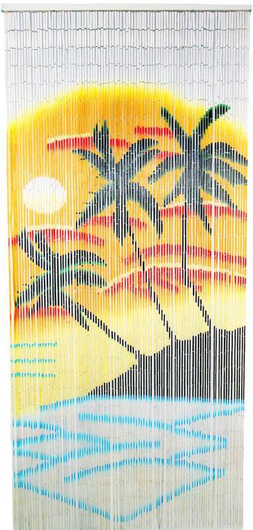 Palm Bamboo Curtain