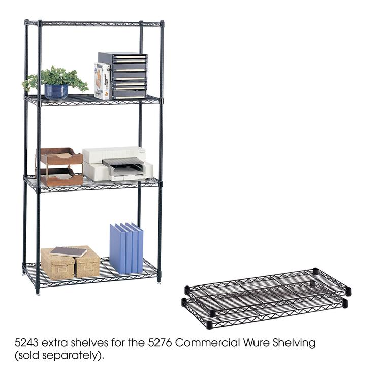 Commercial Wire Shelving, Extra Shelf Pack, 36 x 18