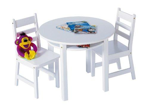 Child's Rd. Table & 2 Chairs-White
