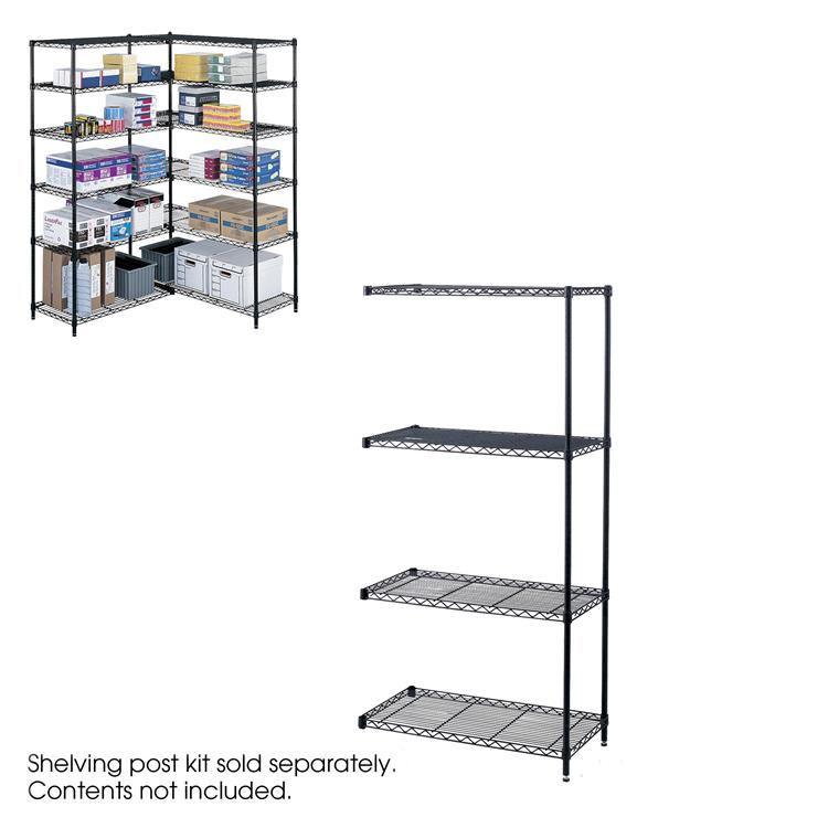 Industrial Wire Shelving, Add-On Unit, 36 x 18