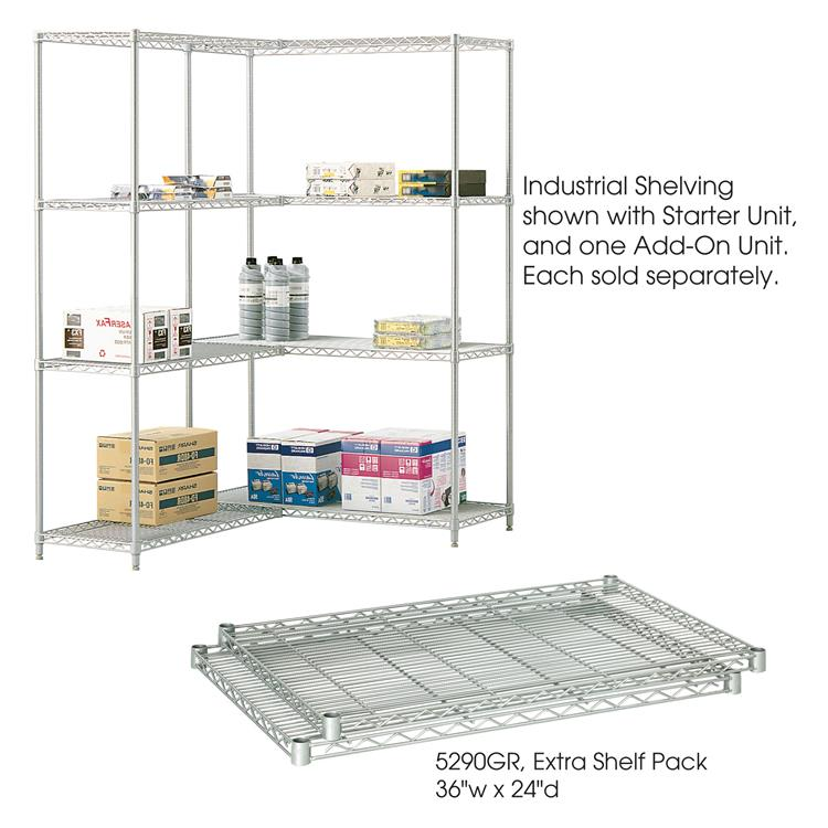 Industrial Wire Shelving, Extra Shelf Pack, 24 x 36