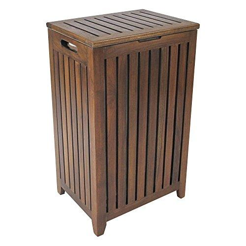 Redmon Genuine Teak Apartment Hamper With Laundry Bag