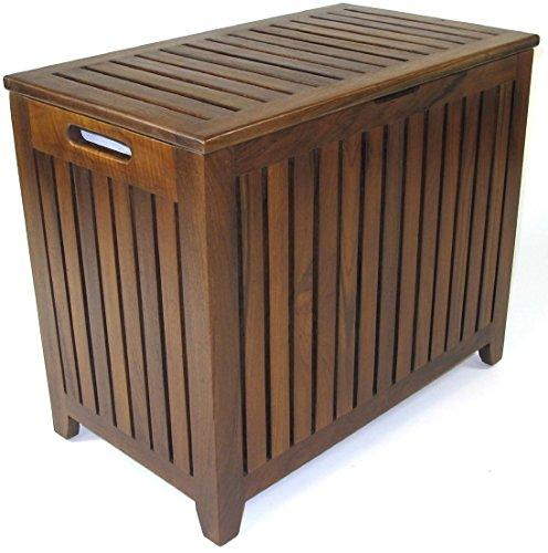 WC Redmon Genuine Teak Vanity Style Hamper