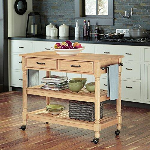 Home Styles Savannah Natural Kitchen Cart