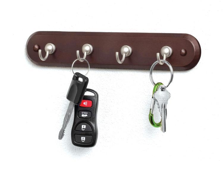 53202 Key Rack 4Hk Walnut