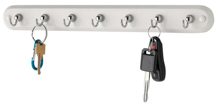 53703 Key Rack 7Hk Wht