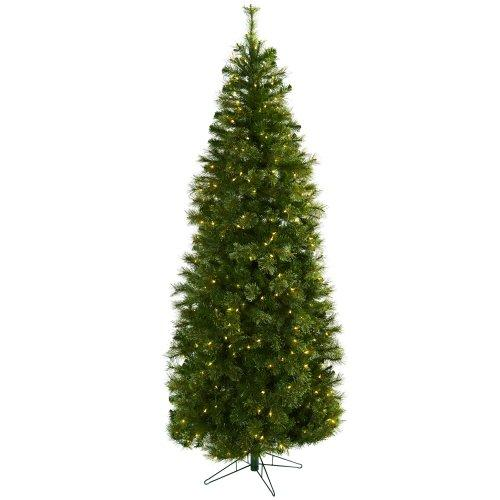 Nearly Natural 7.5? Cashmere Slim Christmas Tree w/Clear Lights
