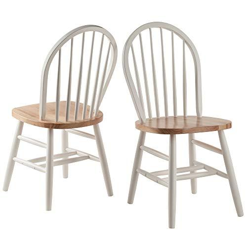 Winsome Wood Windsor Chair 2-PC Set RTA White & Natural