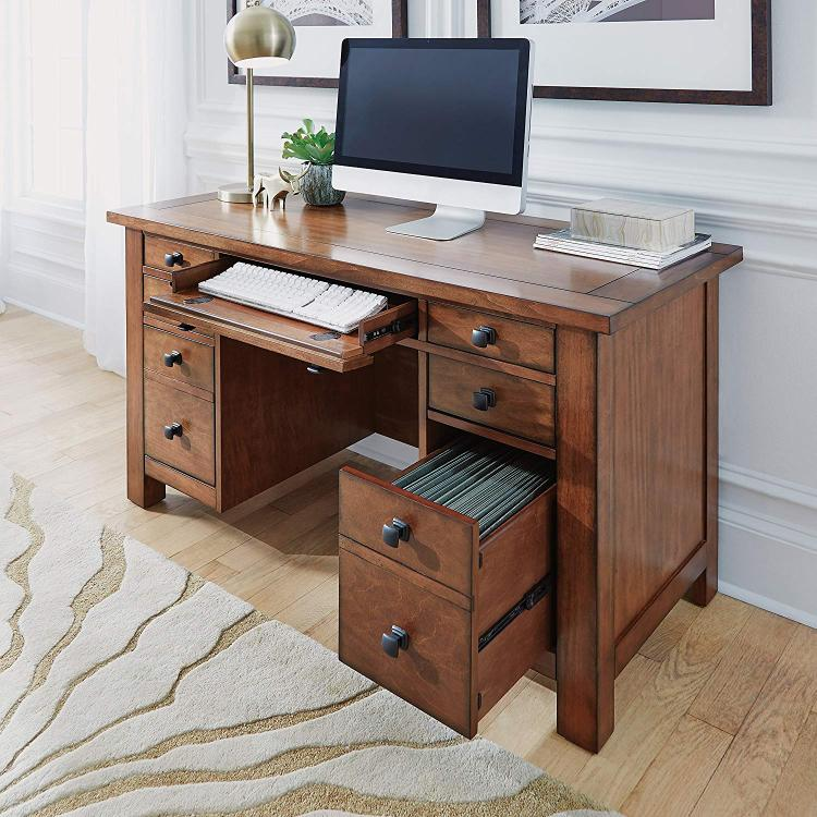 Home Styles Tahoe Executive Pedestal Desk