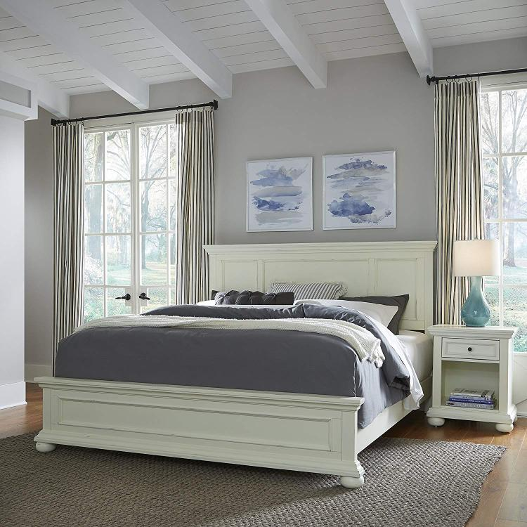 Home Styles Dover White King Bed & Night Stand [Item # 5427-6020]
