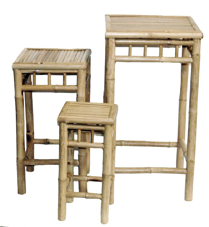 Bamboo54 Stool Bamboo Nesting 3 Piece High