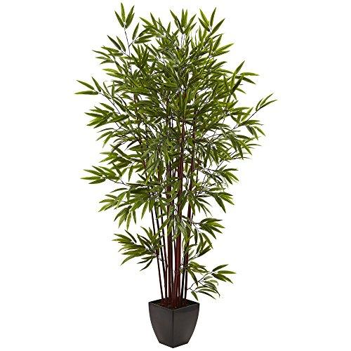 Nearly Natural 6? Bamboo Silk Tree w/Planter