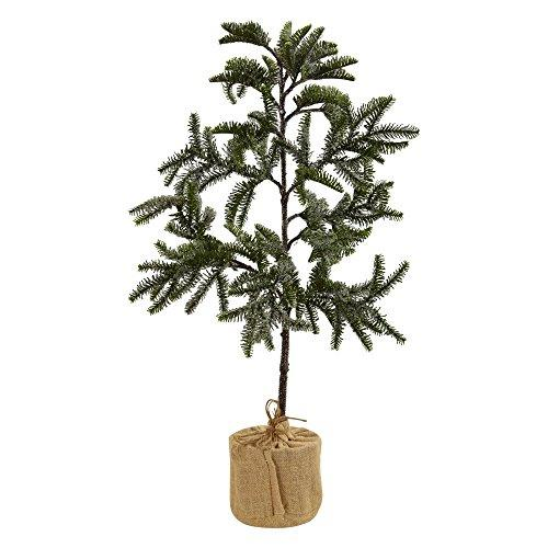 Nearly Natural 3? Iced Pine Tree w/Burlap Base