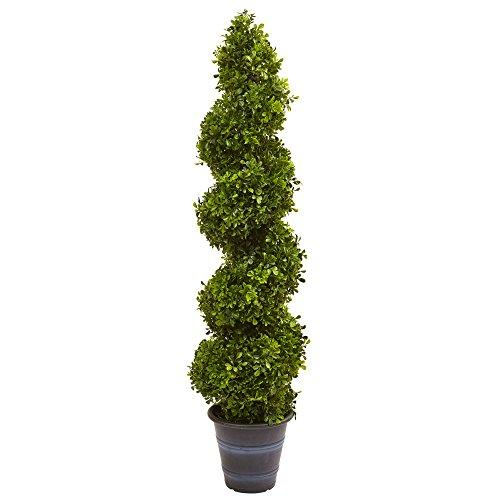 Boxwood Spiral Topiary with Planter (Indoor/Outdoor) [Item # 5475C]