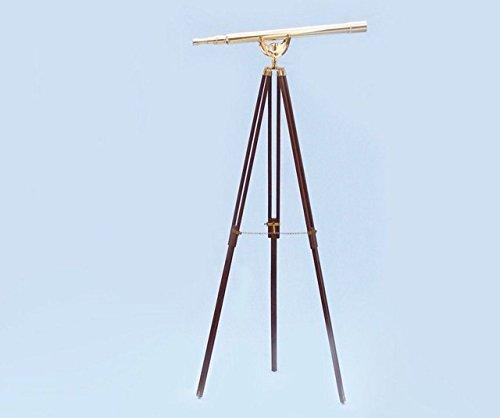 Floor Standing Brass/Leather Anchormaster Telescope 65''