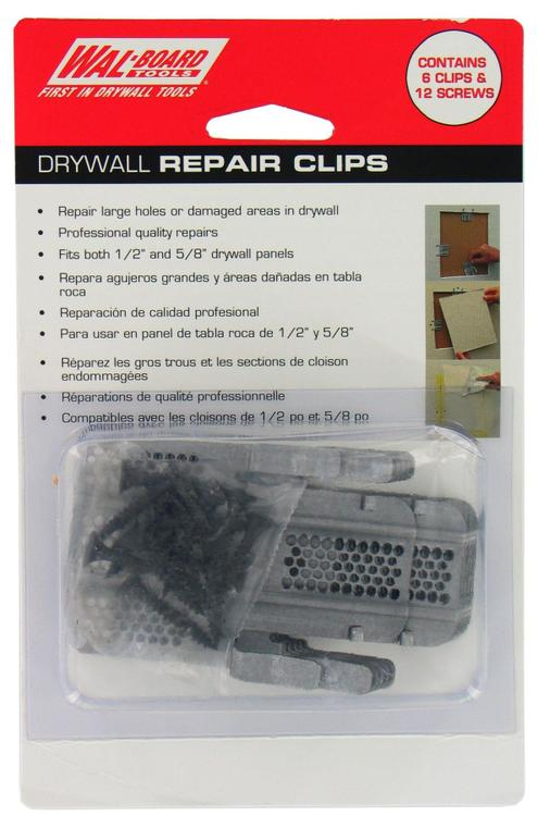 Walboard 54-014 Drywall Repair Clips 6 Count