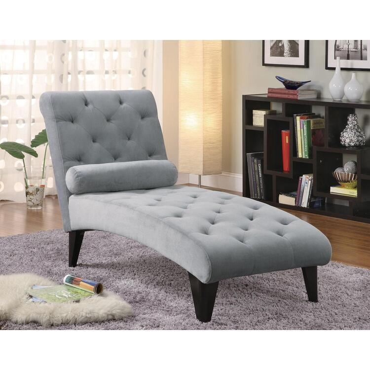 Coaster Soft Gray Tufted Chaise - Coaster 550067 [Item # 550067]