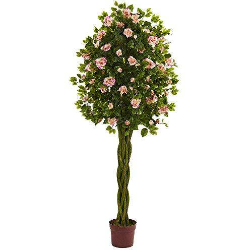 6? Rose Artificial Tree with Woven Trunk
