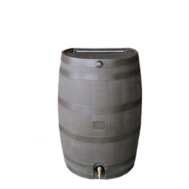 Brown Rain Barrel With Brass Spigot