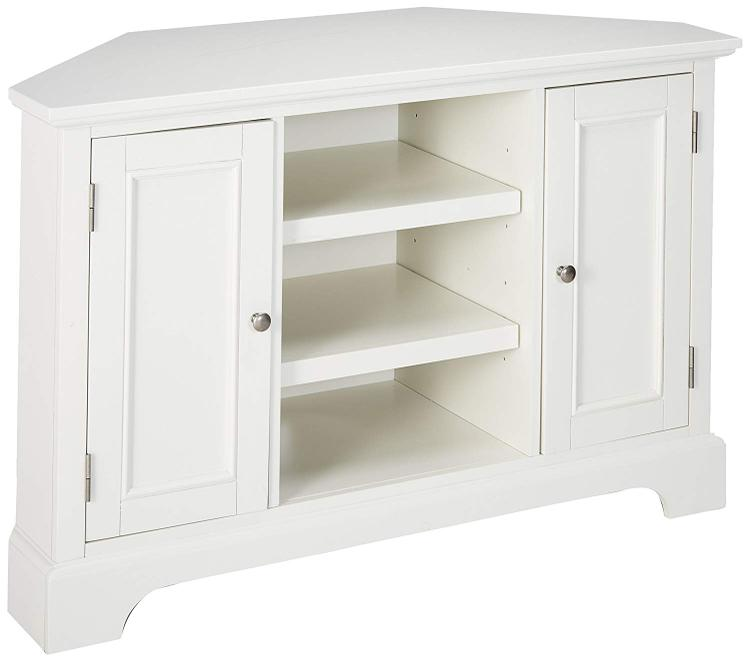 Home Styles Naples Corner Entertainment Stand with White Finish [Item # 5530-07]
