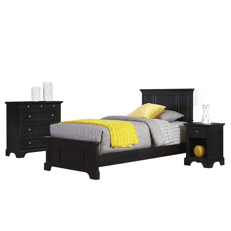 Home Styles Bedford Twin Bed, Night Stand, and Chest