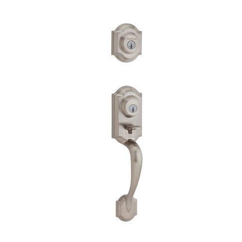 Kwikset 553MNHLIP-15S Montara Exterior Single Cylinder Handlest Smart Key Satin Nickel Finish