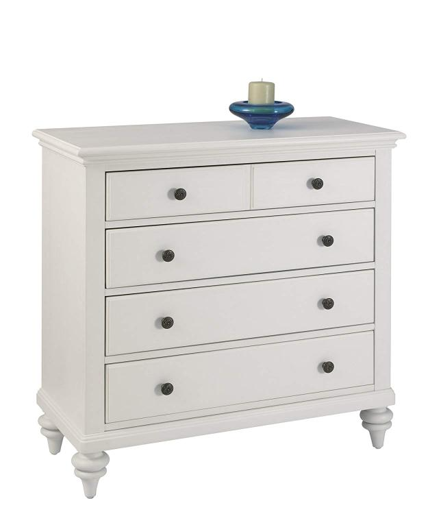 Home Styles Bermuda Chest Brushed White Finish