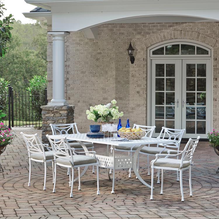 Home Styles La Jolla Cast Aluminum Outdoor Rectangular 7 Pc. Dining Group